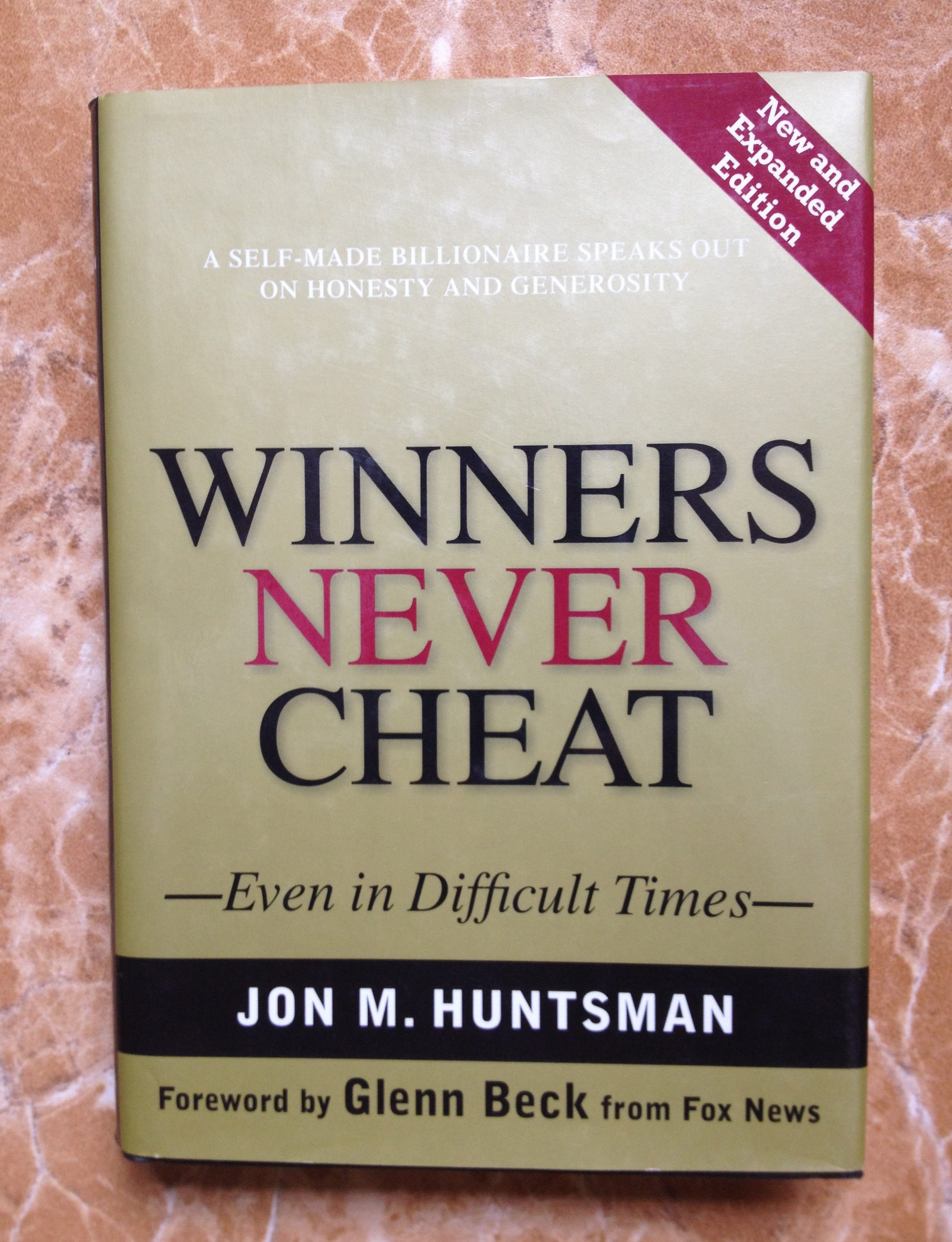 Jon Huntsman Winners Never Cheat - front cover