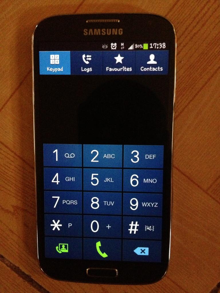 Galaxy S4 keypad