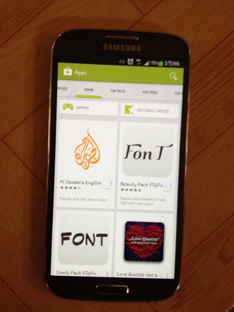 Samsung Galaxy S4 Andoid Apps store