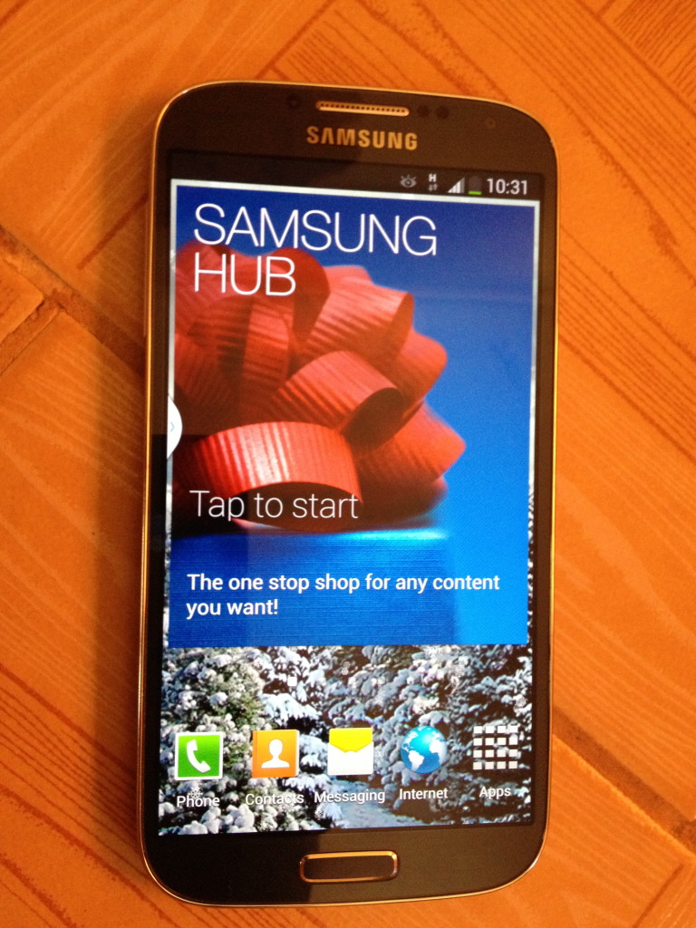 Samsung Hub screen