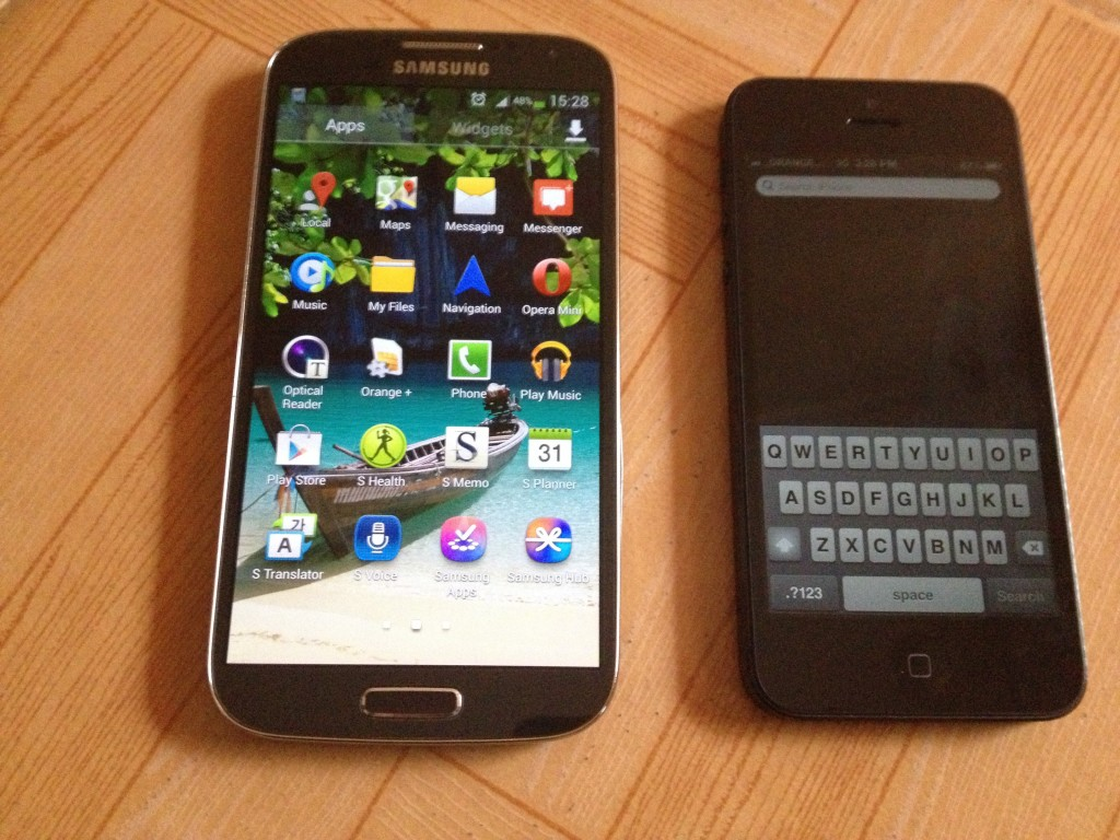 Samsung Galaxy S4 and iPhone 5