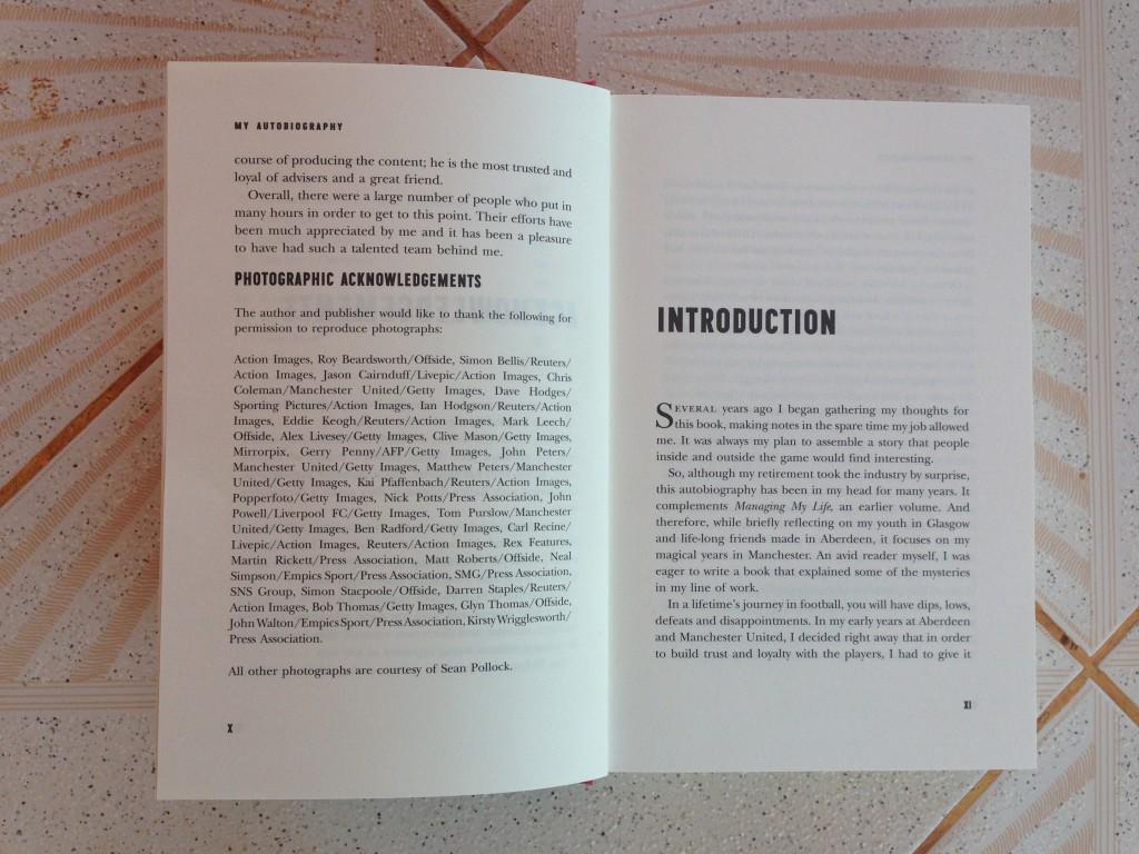 Introduction pages of Alex Ferguson:My Autobiography