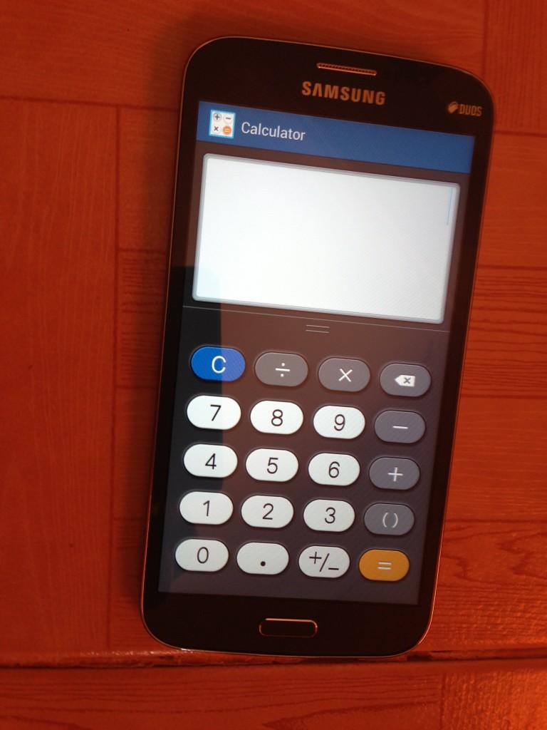Samsung Galaxy Mega 6.3 inches calculator