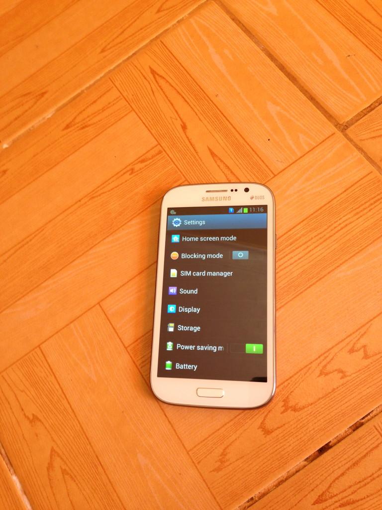 Samsung Galaxy Mega 5.8 inches settings