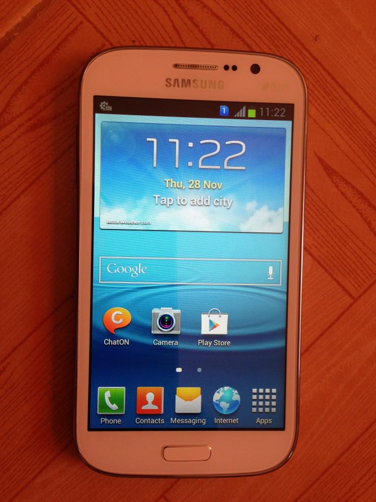 Samsung Galaxy Mega 5.8 inches home screen