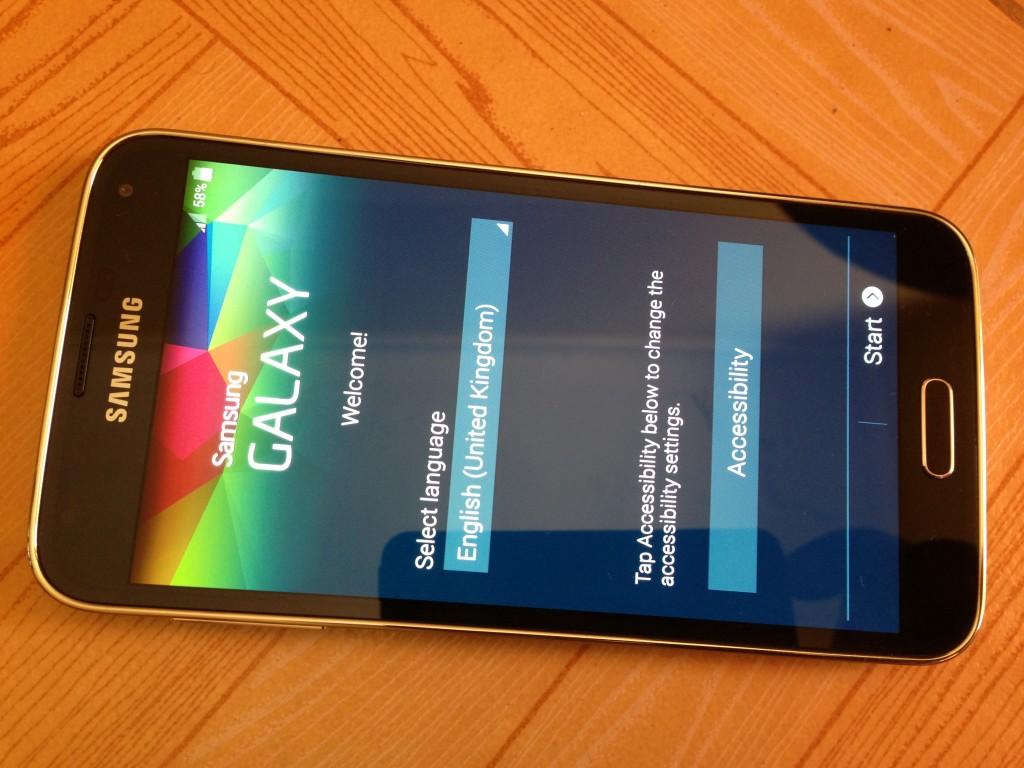 Samsung Galaxy S5 set up process