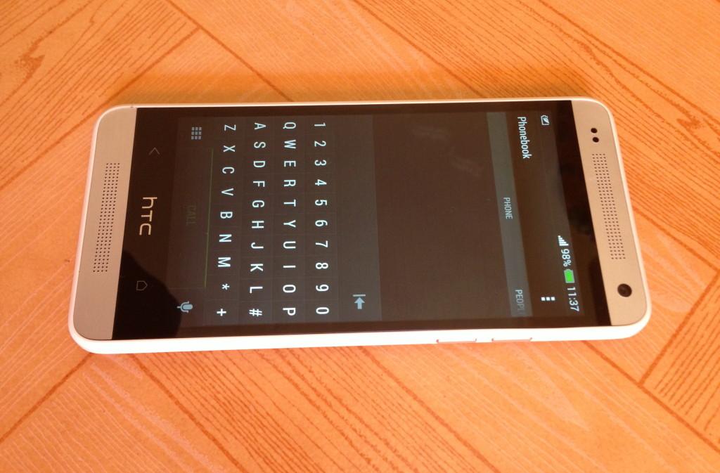 HTC One Mini typing screen
