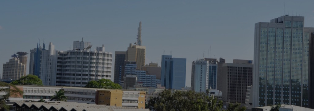 The Kenyan capital Nairobi skyline
