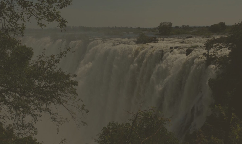 While in Zambia few years, I took this memorable photo of Victoria Falls