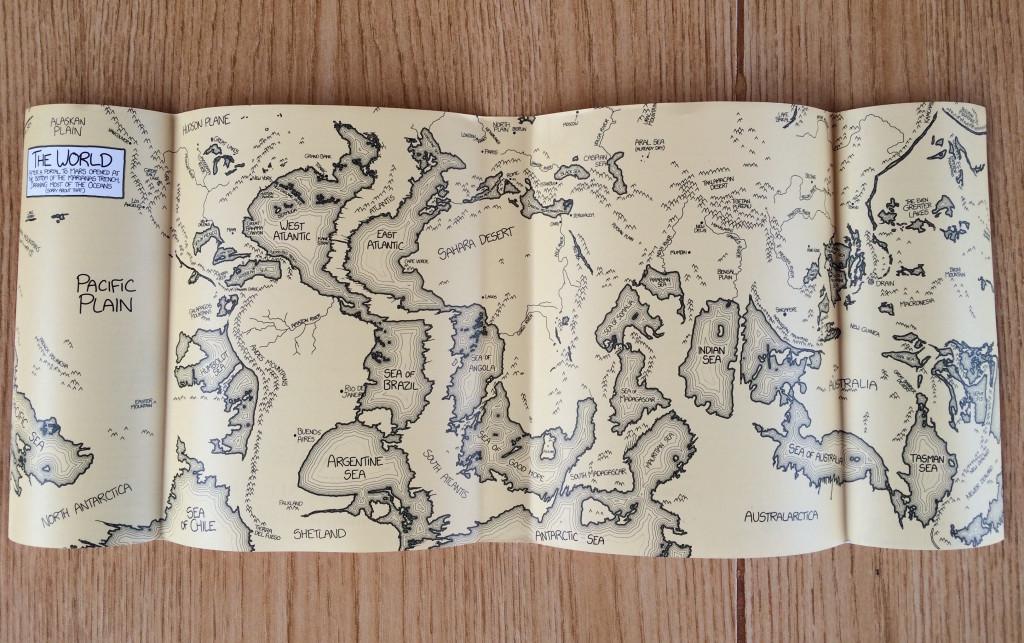 World Map according to Randal Munroe