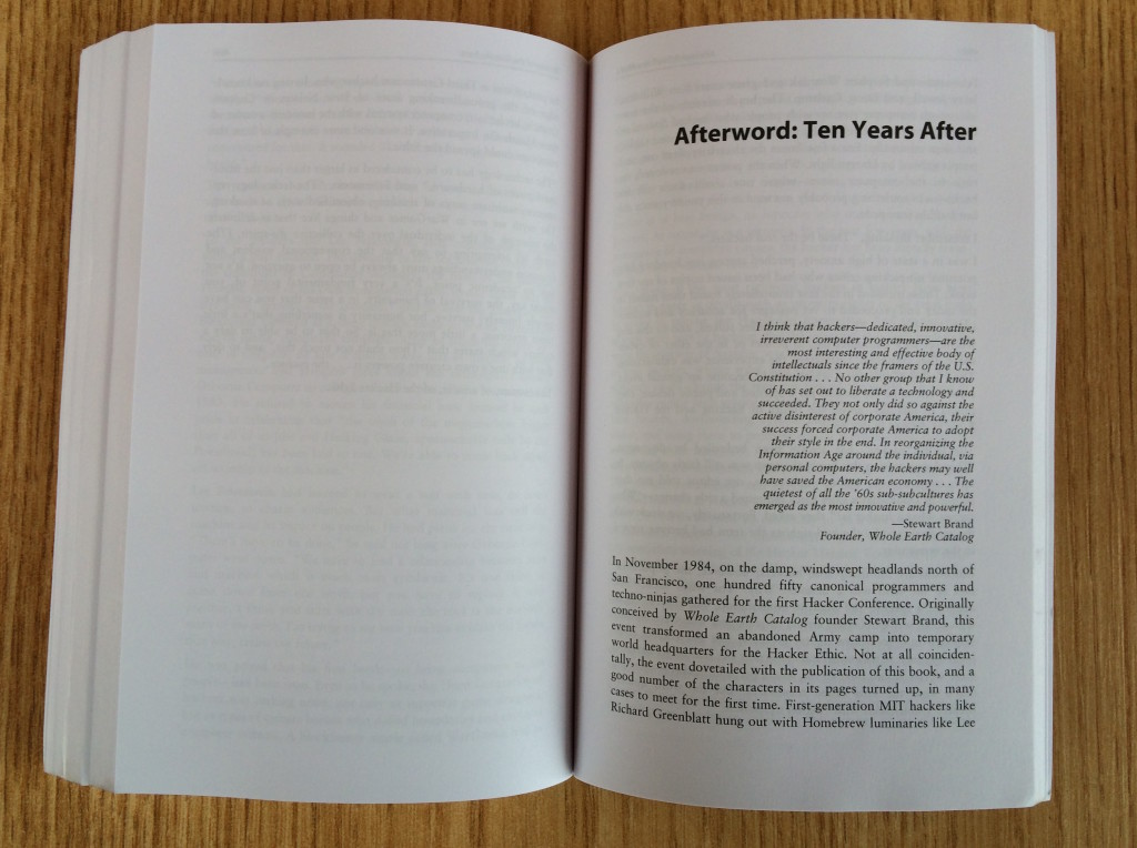 Ten Years Afterword is a personal recollection of events ten years after publication of his book