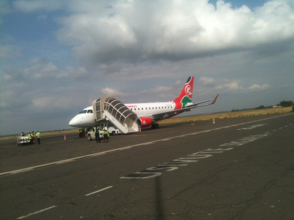 Photo above shows a plane belonging to Kenya Airways at Kilimanjaro International Airport that I took few years back on my way to Serengeti National Park
