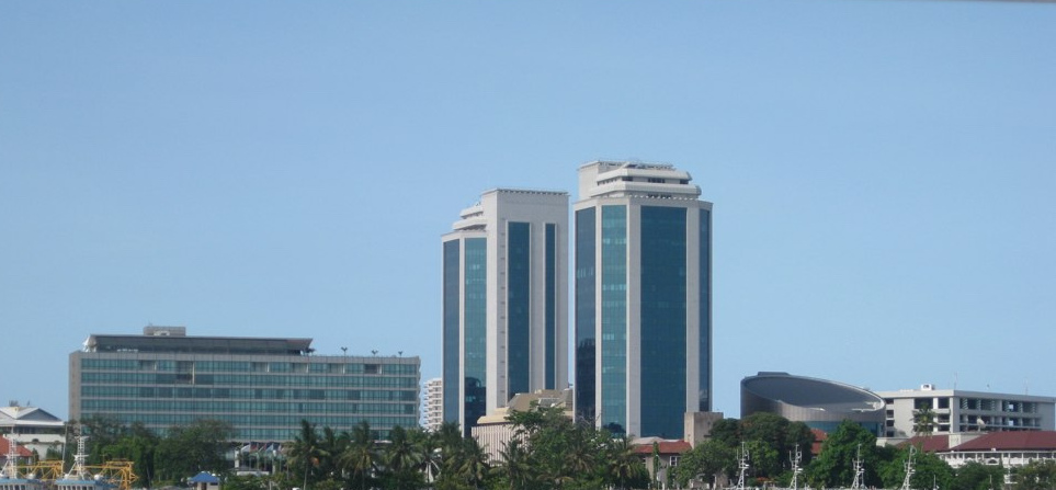 Bank of Tanzania as seen from Kigamboni ferry.EAC headquarters are based in the country