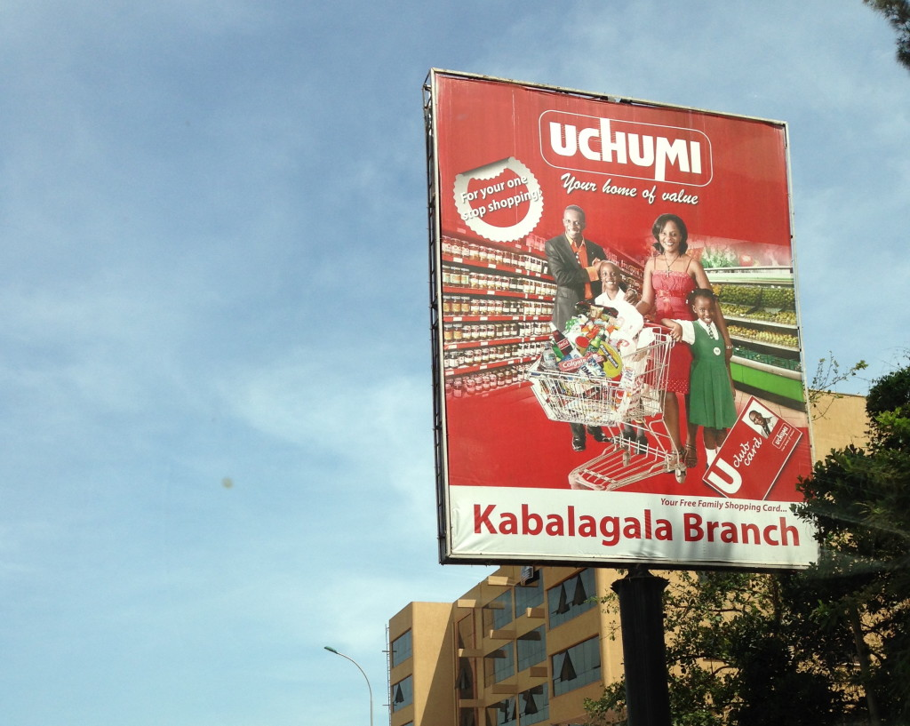 A billboard of Uchumi Supermarket branch in Kabalagala before its closure few months ago - CH photo library