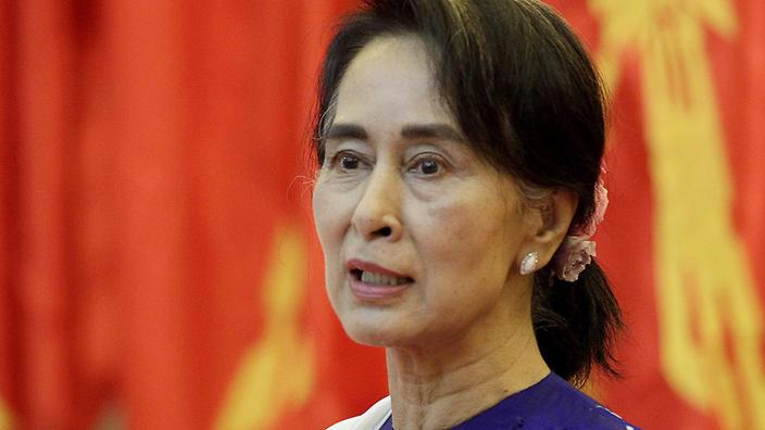 Aung San Suu Kyi in a file photo