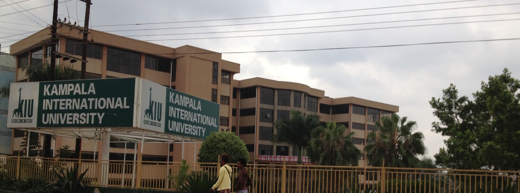 Kampala International University is located next to Kabalagala as you head to Kansanga - CH library