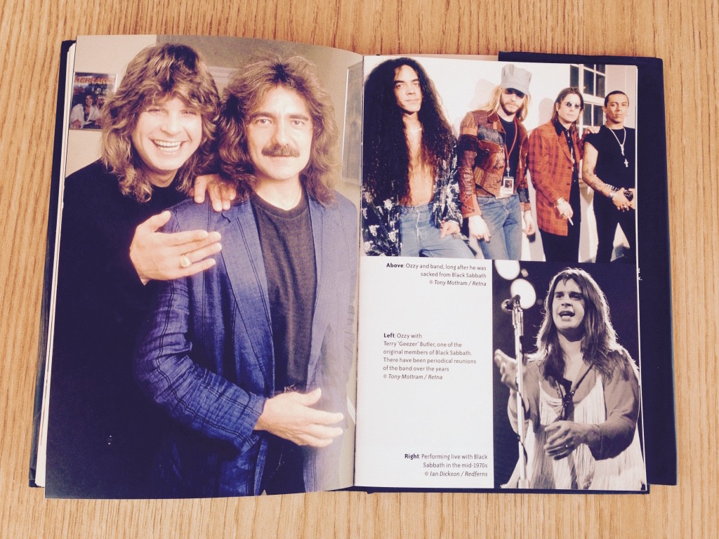 Images above shows his different times in his career with Black Sabbath
