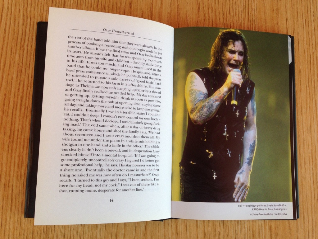 Ozzy performing in 2000 in Los Angeles, two years before the book was published