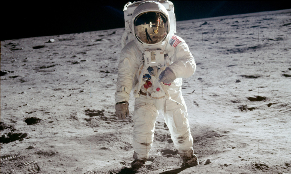 Neil Armstrong after landing in Moon in 1969 - Picture by NASA