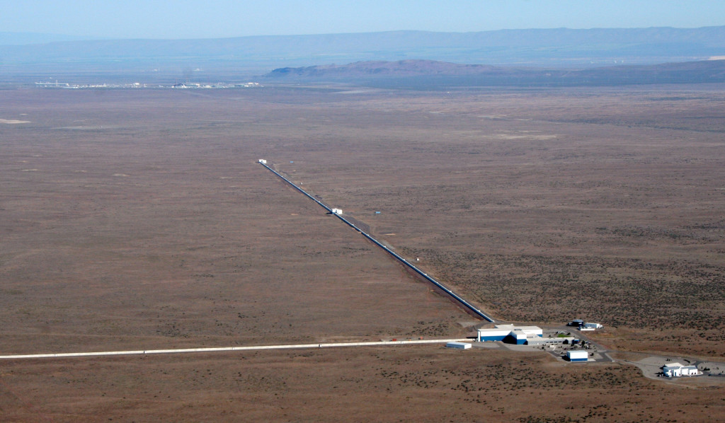 A view of the LIGO detector in Hanaford, Washington. LIGO research is carried out by the LIGO Scientific Collaboration - Picture courtesy of National Science Foundation