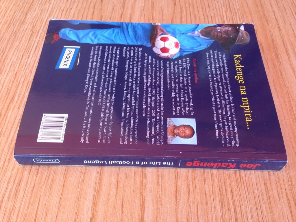 The back cover of the book Joe Kadenge:The Life of a Football Legend