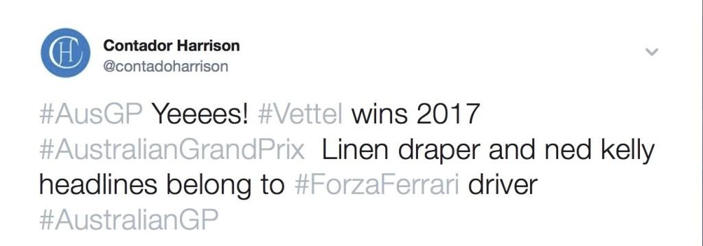 Could not avoid celebrating Ferraris' win